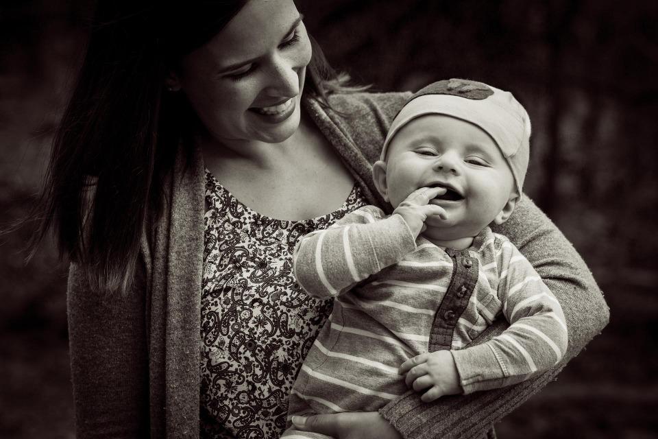 mother & infant portrait